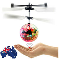 Aircraft LED Flash Light Remote Electric RC Fly Ball Infrared Induction Kid Toys