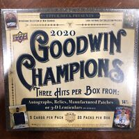 1-Sealed Pack From 2020 UPPER DECK GOODWIN CHAMPIONS HOBBY BOX - SHIPS FAST