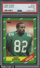 1986 Topps Football #271 Mike Quick Philadelphia Eagles PSA 10 GEM MINT