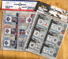 2001 2002 Canada Post NHL Hockey Stamp Cards 2 SETS 12 CARDS SEALED