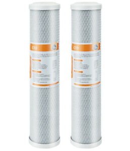 """10 Pack 20""""x4.5"""" Whole House CTO Carbon Block Water Filter for Big Blue Housing"""
