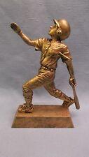 gold male Baseball statue trophy resin award home run Pdu 50603 G