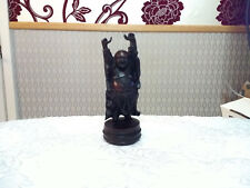 Happy Prosperity Buddha Resin Figurine Hands Up