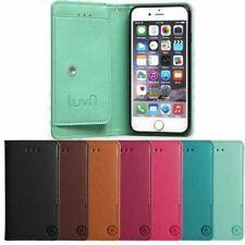 Luvn Hidden Pocket Wallet Case for LG G7 G6 G5 G4 Stylus G3 V40 V30 V20 Q7 Q8 Q6