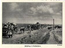 1914 West-Polen * Kämpfe bei Lodz  Flüchtlinge mit Hausrat *  WW1