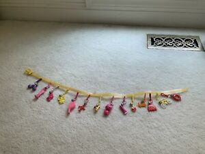 RARE VINTAGE 1980s BELL CLIP PLASTIC CHARM BELT FOR 80'S CHARMS