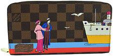 LOUIS VUITTON Red Damier Canvas ZIPPY TRANSATLANTIC Wallet LIMITED EDITION