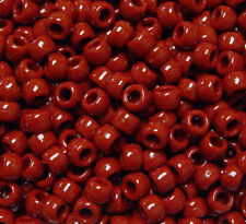 Jolly Store Crafts Rust brown 9x6mm Pony Beads made in USA 500pc