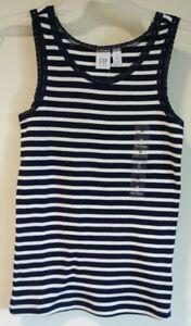BNWT Gap Kids Navy/White Stripe Lace Trimmed Tank Top Girl's Size  L / 10
