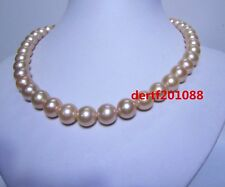AAAA 18 '' 11-12 mm Australia PINK pearl necklace 14k gold clasp