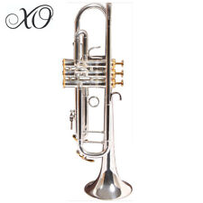 """XO 1602S Professional Series Bb Silver Plated 0.459"""" Bore Trumpet with Case"""