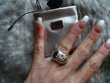 D&G Dolce&Gabbana Ring Edelstahl silber Größe 16 17 mm fast neu mit Etui