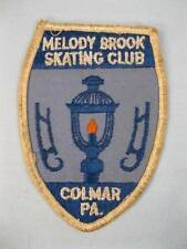 Melody Brook Skating Club Cloth Patch Colmar PA Blue White Orange Candle (O)