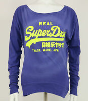 Superdry Shirt - Vintage Logo L/S Burnout Tee - Midnight Tie Dye - violett +Neu+