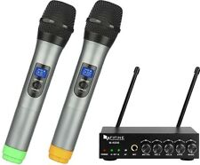 Fifine Dual Channel Wireless Microphone Set Karaoke M-K036 Brand New