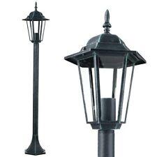 Lampione Vittoriano Classico da Giardino Lampada Esterno Alluminio e Vetro 105cm