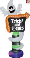 HALLOWEEN 8 FT TRICK OR TREAT SIGN GHOST  Airblown Inflatable YARD DECORATION