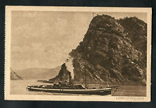 C1920s View: Steam Tug on the Rhine at Loreleyfelsen