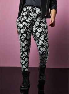 Torrid Betsey Johnson Leggings Full Length Skulls Crossbones Plus Size 3 22 / 24