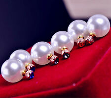 Zara Blogger FAV 16 mm Bianco Perla Borchie Verde può essere indossato da entrambi i lati Nuovo