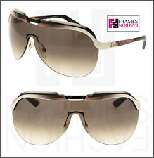 972c6c44ccf CHRISTIAN DIOR SOLAR BURGUNDY White Gradient Metal Shield Sunglasses  DIORSOLAR