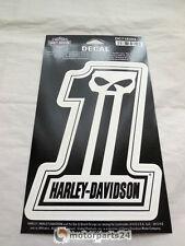 Harley Davidson Crâne No.1 Number One Tête de mort Autocollant DC718303