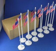 Plasticville - O-O27 - FP-5 - Flagpole (12) Dealer Box - Unused - BEAUTIFUL