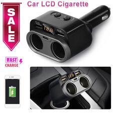 NEW Car Charger 2 USB Dual Cigarette Lighter Splitter Socket Converter Adapter