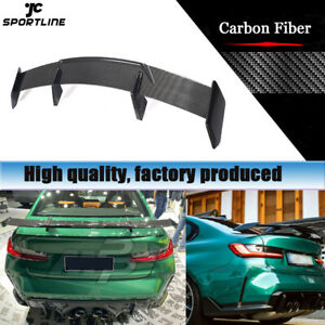 For BMW G80 M3 G82 M4 Coupe 2021-2022 Rear Trunk Spoiler Wing Real Carbon Fiber