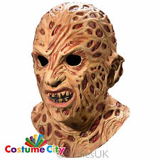 Adults Nightmare On Elm Street Deluxe Freddy Krueger Overhead Fancy Dress Mask