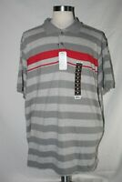 Great Northwest Pique Gray Red Striped Polo Shirt 2XL NWT