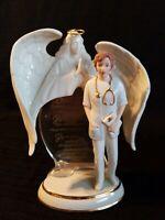 Bradford Angel of Kindness~Heavens Gentle Touch Serenity Prayer Nurse Figurine