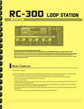 Boss RC-300 Multi Effects Guitar Loop Station OWNER'S MANUAL