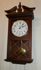 CONSTANT Wooden Cased PENDULUM Wall CLOCK Westminster CHIME Quartz VINTAGE Look