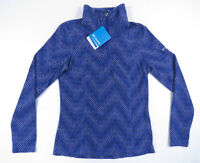 NWT Columbia Wintry Run Printed Purple 1/2 Zip Womens Pullover Fleece Jacket XS