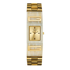 NEW AUTHENTIC GUESS ICONIC STATUS CUFF WATCH -  U12633L2 BEIGE  NEW WITH TAG