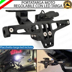 PORTATARGA TARGA LED MOTO REGOLABILE IN METALLO PER HONDA GL 1100 GOLD WING