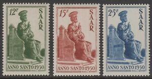 SAAR 1950 HOLY YEAR MNH, SG 290-2, EXCELLENT