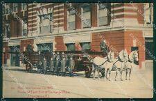 Vigili del Fuoco Firefighter Providence Rhode Island cartolina QT5315