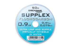 Drennan Supplex Fluorocarbon Fluoro Line Hook Length 50m FULL RANGE