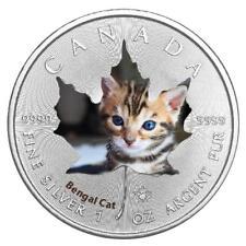 Kanada - 5 Dollar 2017 - Maple Leaf - Bengalkatze (4.) - 1 Oz Silber ST