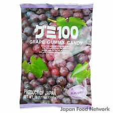Japanese Kasugai Gourmet Gummy Candy Grape 107g Made With Real Fruit Juice