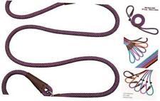 New listing Small Dog Slip Lead Leash, 5 Foot Nylon 1/4 in x 5ft Pattern C-purple white