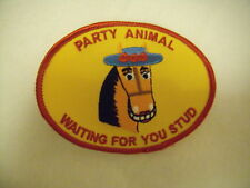 New Women Gold Horse Party Animal Waiting 4U Stud Patch