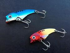 2x Blade Vibe Vib Metal Switchblade 3/4oz 60mm Snapper Jewie Cod Lure Free Post