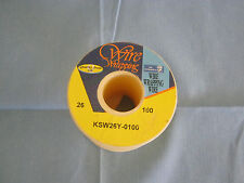 OK Idustries Wire Wrapping Model: KSW26Y-010.  26AWG, Yellow.  100' Old Stock  <