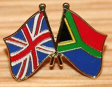 UK & SOUTH AFRICA African FRIENDSHIP Flag Metal Lapel Pin Badge Great Britain