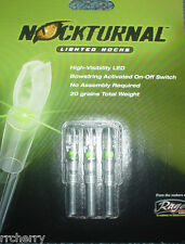 @NEW@ 3-- NOCKTURNAL GREEN LIGHTED NOCKS NT-205 S BY RAGE ARCHERY