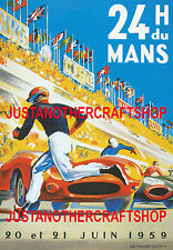 Le Mans 1959 Motor Racing A3 Large Size Poster Advert Sign Leaflet