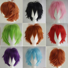 Women Men  Fashion Cosplay Short Full Wig Heat Resistant Anime Party Wigs 2018